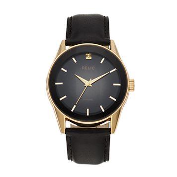 Relic Men's Rylan Diamond Accent Leather Watch - ZR77295