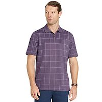 Men's Van Heusen Slim-Fit Flex Windowpane Performance Polo