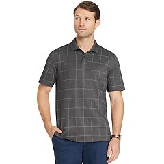 Men's Van Heusen Classic-Fit Flex Windowpane Performance Polo