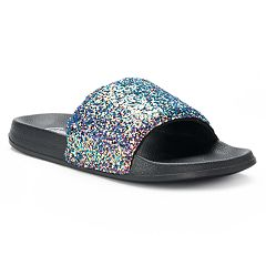 Women's Candie's® Glitter Slide Sandals