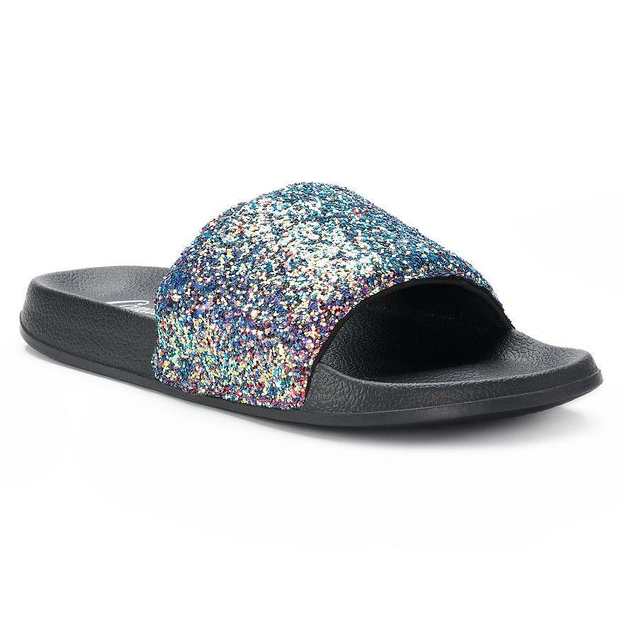 cc56d710940c10 Women s Candie s® Glitter Slide Sandals. View Larger