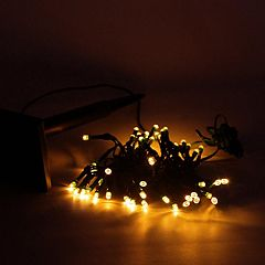 50 Amber Solar Powered LED Outdoor Christmas Lights