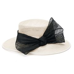Women's Bow Boater Hat