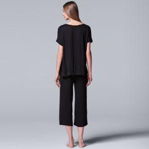 Women's Simply Vera Vera Wang Pajamas: Tee & Capri Pants Set