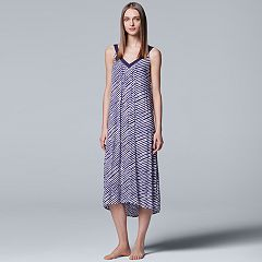 Women's Simply Vera Vera Wang Pajamas: Long Sleep Chemise