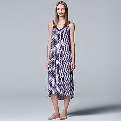 Women's Simply Vera Vera Wang Pajamas: Long Sleep Chemise