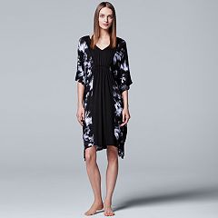 Women's Simply Vera Vera Wang Pajamas: Short Caftan Nightgown