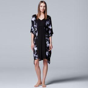 Women's Simply Vera Vera Wang Pajamas: Short Caftan Nightgown