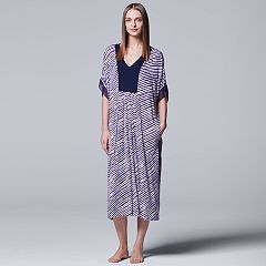 Women's Simply Vera Vera Wang Pajamas: Long Sleep Caftan Nightgown