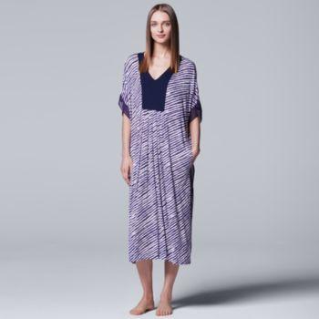 Women's Simply Vera Vera Wang Pajamas: Long Sleep Caftan Nightgown