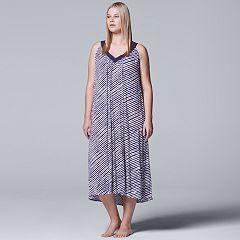 Plus Size Simply Vera Vera Wang Pajamas: Long Sleep Chemise