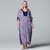 Plus Size Simply Vera Vera Wang Pajamas: Long Sleep Caftan Nightgown