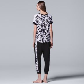 Women's Simply Vera Vera Wang Pajamas: Tee & Jogger Pants Set