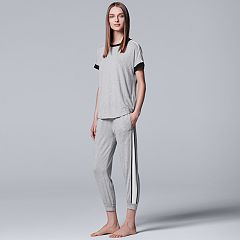 Women's Simply Vera Vera Wang Pajamas: Tee & Jogger Pants Set