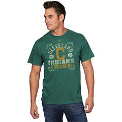 Men's Majestic Cleveland Indians  Irish Tee