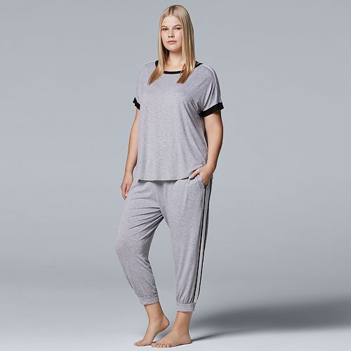ad4b46208 Plus Size Simply Vera Vera Wang Pajamas  Sleep Tee   Banded Bottom Sleep  Pants Pants Set