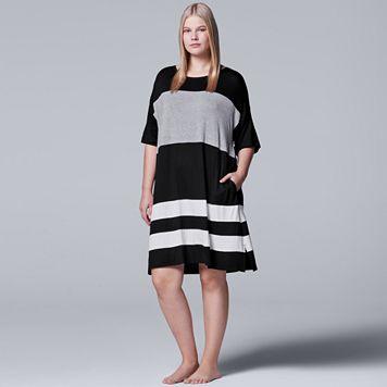 Plus Size Simply Vera Vera Wang Pajamas: Short Sleeve Sleepshirt