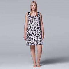 Plus Size Simply Vera Vera Wang Pajamas: Sleep Chemise