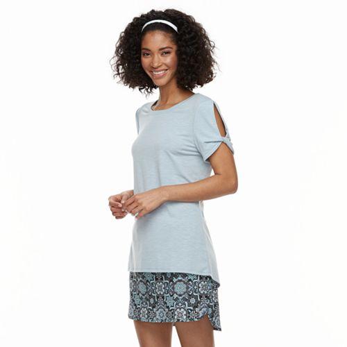 Women's ZeroXposur Twisted-Sleeve Scoopneck Tee
