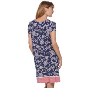 Women's Croft & Barrow® Pajamas: V-Neck Short Sleeve Nightgown