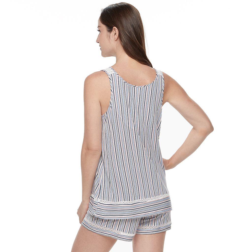 Women's Croft & Barrow® Pajamas: Tank & Shorts 2-Piece PJ Set
