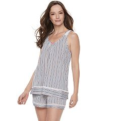 Women's Croft & Barrow® Pajamas: Tank & Shorts 2 pc PJ Set