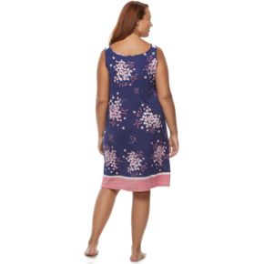 Plus Size Croft & Barrow® Pajamas: Sleeveless V-Neck Nightgown