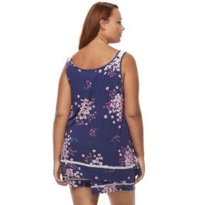 Plus Size Croft & Barrow® Pajamas: Tank & Shorts 2-Piece PJ Set