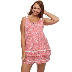 Plus Size Croft & Barrow® Pajamas: Tank & Shorts 2 pc PJ Set