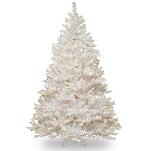 National Tree Company 7.5-ft. Winchester White Pine Artificial Christmas  Tree. Sale - National Tree Company 7.5-ft. Pre-Lit North Valley White Spruce
