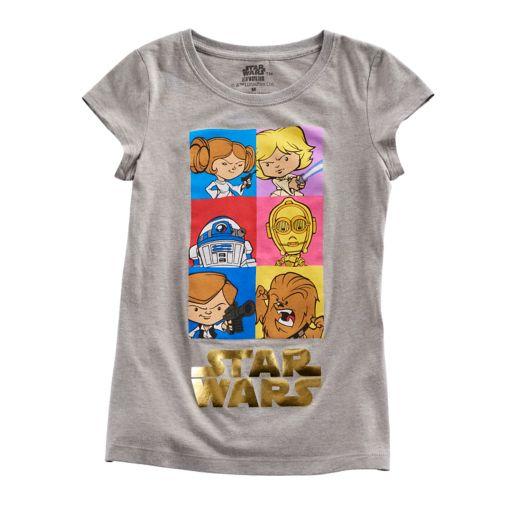 Girls 7-16 Star Wars Character Tee
