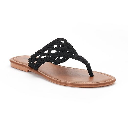 Women's SONOMA Goods for Life™ ... Open Weave Thong Sandals 0xZ8iuO
