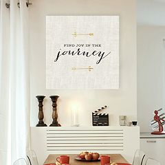 Artissimo Designs 'Joy In The Journey' Canvas Wall Art