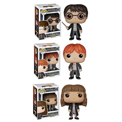 Funko Pop! Harry Potter: Harry Potter, Ron Weasley & Hermione Collectors Set
