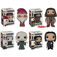 Funko Pop! Harry Potter: Albus Dumbledore, Rubeus Hagrid, Lord Voldemort & Severus Snape Movie Vinyl Collectors Set