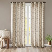 Madison Park Westmont Fretwork Print Window Curtain
