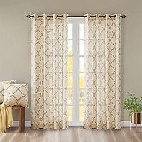 Madison Park Westmont Fretwork Print Window Curtain