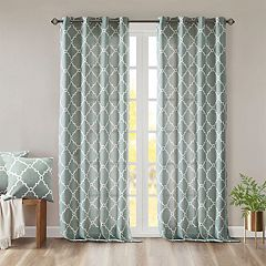 Madison Park 1-Panel Westmont Fretwork Print Window Curtain