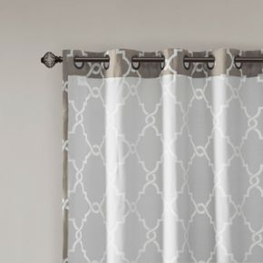 Madison Park 1-Panel Westmont Fretwork Print Patio Window Curtain