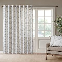 Madison Park 1-Panel Westmont Fretwork Print Patio Window Curtain