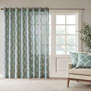 Madison Park Westmont Fretwork Print Patio Window Curtain