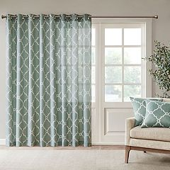 Madison Park Westmont Fretwork Print Patio Window Curtain