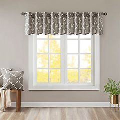 Madison Park Westmont Fretwork Print Window Valance