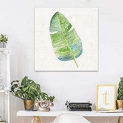 Artissimo Designs Tropical Leaf II Canvas Wall Art