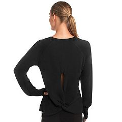 Women's Spalding Layering Twist Back Yoga Tee
