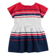 Baby Girl Carter's Red, White & Blue Striped Dress