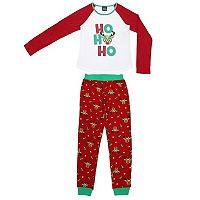 Girls 4-16 Jellifish Christmas Top & Bottoms Pajama Set