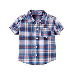 Baby Boy Carter's Red & Blue Plaid Button-Front Shirt
