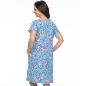 Women's Miss Elaine Essentials Printed Short Robe