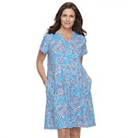 Women's Miss Elaine Essentials Printed Short Robe